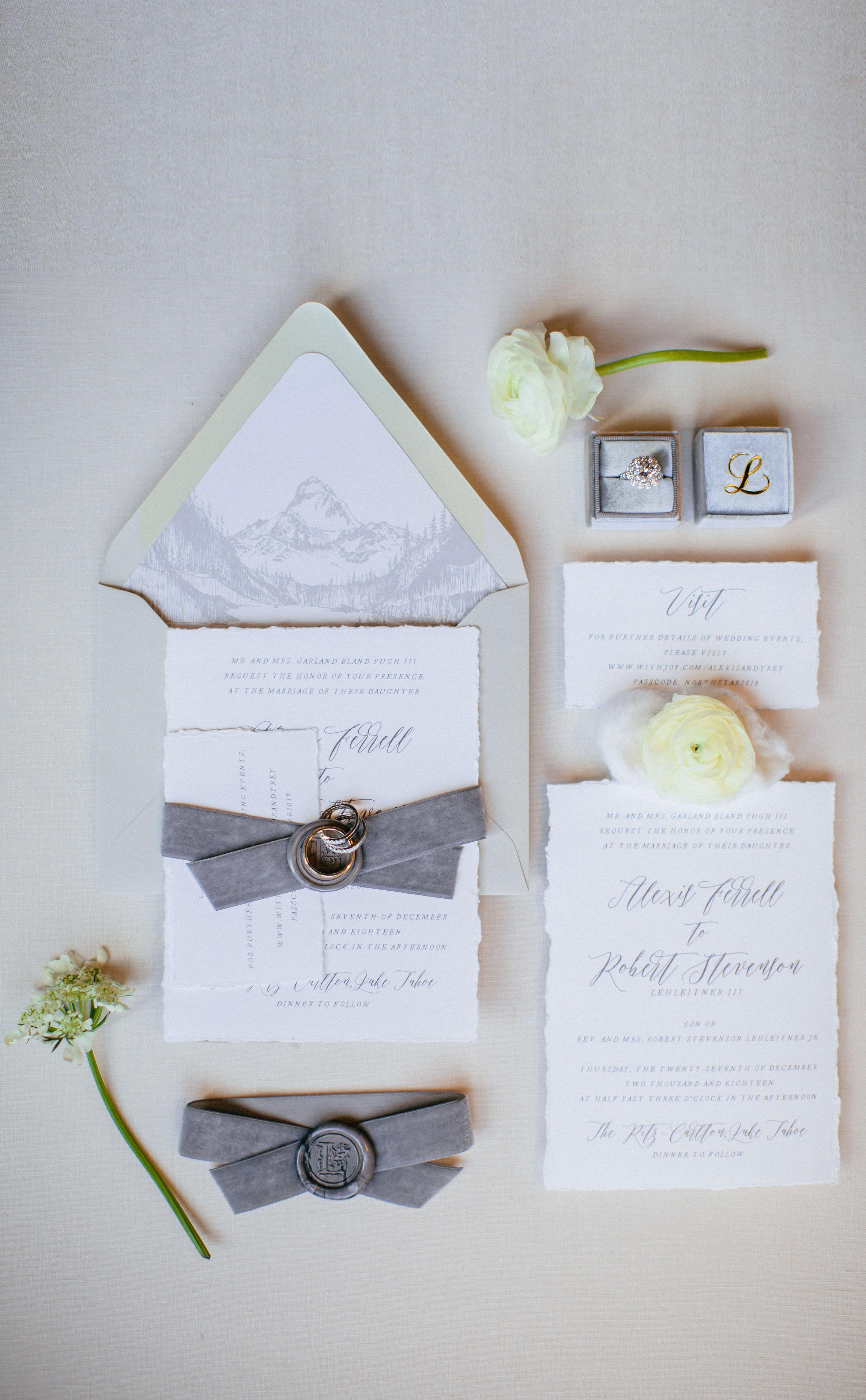 Deckle Edge Wedding Invitation