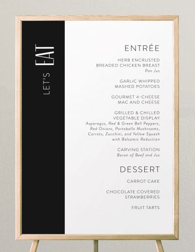 Black-and-White-Wedding-Menu-Sign