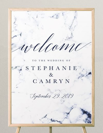 Marble-Welcoome-Sign