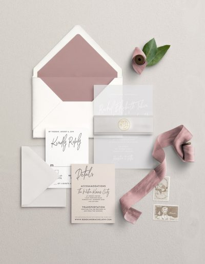Acrylic Wedding Invitation Suite