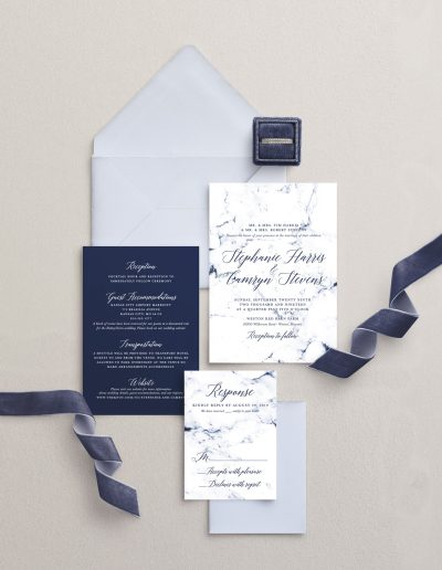 Blue Marble Wedding Invitation